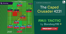 FM20 Tactic: The Caped Crusader 4-2-3-1