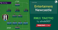 The Entertainers // Newcastle FM20 Tactic