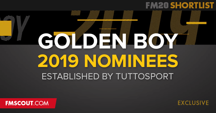 Football Manager 2020 Shortlists - Golden Boy 2019 Nominees FM20 Shortlist