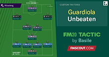 Guardiola inspired 4-1-4-1 with IWB // FM20 Tactic