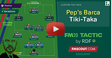 Guardiola's Barca Tiki-Taka Tactic for FM20 by RDF