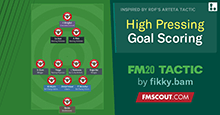 3-4-2-1 goal scoring // My best FM20 formation