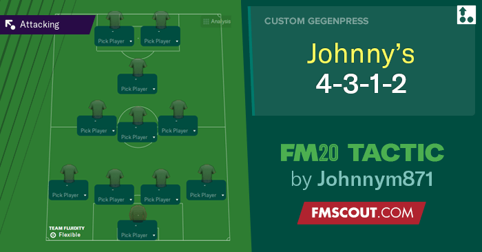 Football Manager 2020 Tactics - FM20 Tactic: 4-3-1-2 by Johnnym871