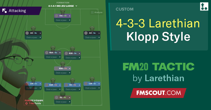 Football Manager 2020 Tactics - Larethian's Klopp Style // FM20 Tactic