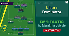 3-4-1-2 Libero Dominator for FM20 by Vujevic