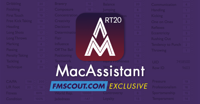Football Manager 2020 Tools - MacAssistant RT for FM20