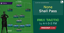 None Shall Pass / FM20 Tactic