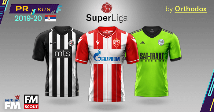 Football Manager 2019 Kits - PR Kits – Serbian SuperLiga 2019/20
