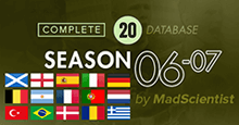 2006-07 Season Throwback Database for FM20 [Complete DB]