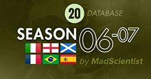 2006-07 Season Throwback Database for FM20 [Full DB]