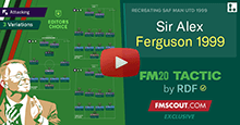 Sir Alex Ferguson's 1999 4-4-2 Tactics for FM20 by RDF