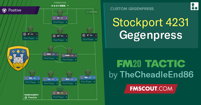 Football Manager 2020 Tactics - TheCheadleEnd86's 4-2-3-1 Gegenpress // Stockport Tactic