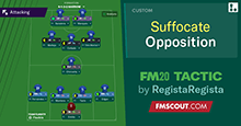 FM20 Tactic: Suffocate the Opposition - 5 Attacking Players (4-1-3-2)