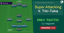 FM20 Tactic: Super Attacking Vertical Tiki Taka // 3-3-1-3
