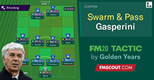Swarm & Pass 4-4-2 for FM20 based on Gasperini & ITFC!