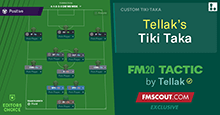Tellak's Tiki Taka for FM20 // Overpowered Possession Tactic