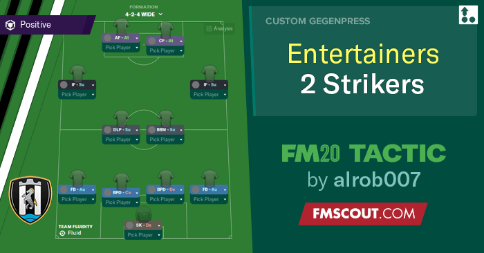 Football Manager 2020 Tactics - The Entertainers Two Strikers Newcastle Tactic FM20