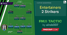 The Entertainers Two Strikers Newcastle Tactic FM20