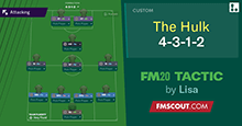The Hulk 4-3-1-2 by Lisa // FM20 Tactic
