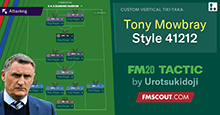 Tony Mowbray's 41212 // FM20 Tactic