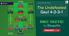 The Undefeated Gaul 4-2-3-1 // FM20 Tactic