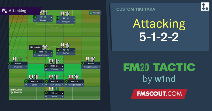 Football Manager 2020 Tactics - w1nd's Attacking 5-1-2-2 DM WB