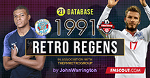 1990-1991 Retro Regens + Season Throwback Database for FM21