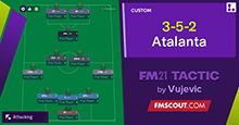 3-5-2-Atalanta tactic by Vujevic