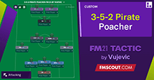 3-5-2-Pirate Poacher tactic by Vujevic