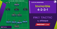 Invincible 4-2-3-1 Wide // Attack on Fire