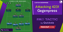 Attacking 4-2-3-1 - Quicksta Gegenpress V2.0