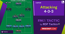 Attacking 4-3-3 by RDF x FMScout