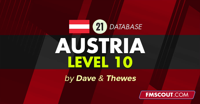Football Manager 2021 League Updates - FM21 Austria Level 10 by Dave & Thewes