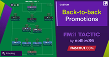 Back-to-back Promotions // FM21 Tactic
