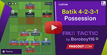 Batik 4-2-3-1 Possession and Goals Trequartista