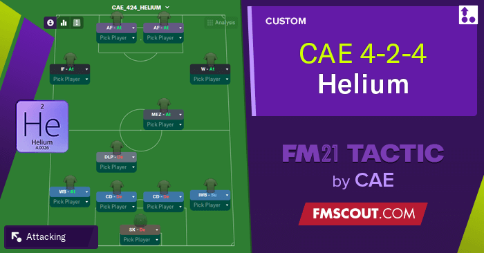 Football Manager 2021 Tactics - 4-2-4 Helium