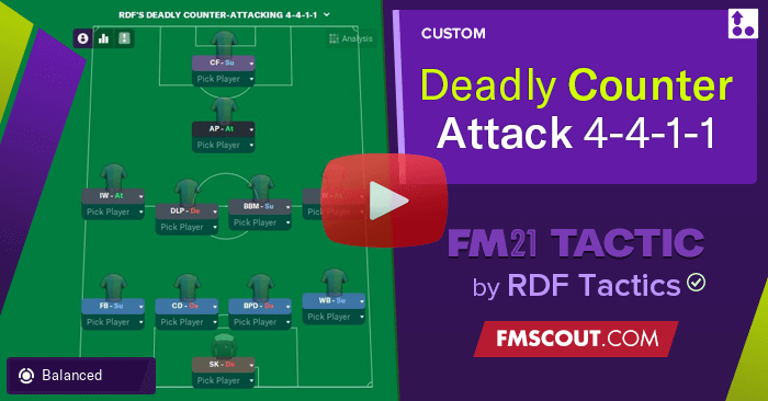 Football Manager 2021 Tactics - Deadly Counter-Attack! NO HIGH PRESS! 4-4-1-1