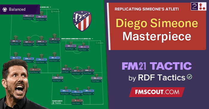 Football Manager 2021 Tactics - Diego Simeone Defensive Masterpiece - Flexible Systems
