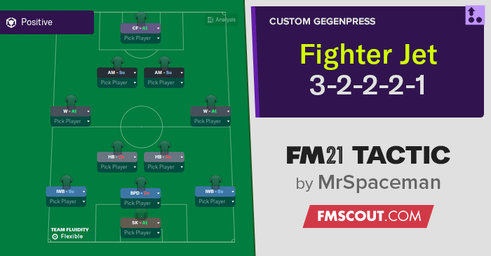 Football Manager 2021 Tactics - MrSpaceman's FIGHTER JET Tactic (3-2-2-2-1 2DM)
