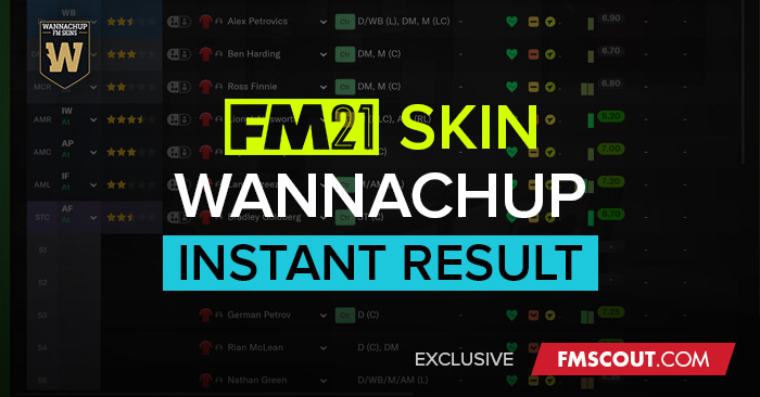 Football Manager 2021 Skins - FMScout Instant Result FM21 Skins by Wannachup V1.03