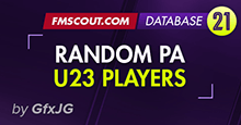 FM21 Random PA Database - U23 - UPDATED FOR 21.3.0