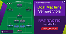 Goal Machine FM21 Tactic: 100+ goals / season