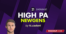 FM21 DB for High PA Newgens