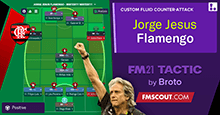 Jorge Jesus 4-4-2 Tactics at Flamengo