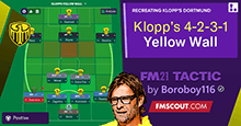 Klopp's Yellow Wall 4-2-3-1