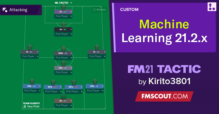 Football Manager 2021 Tactics - Machine Learning Tactic // FM 21.2.x