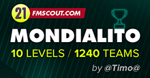 [FM21] Mondialito (10 Levels / 1,240 Teams) - By @Timo@