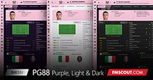 PequenoGenio88 FM21 Skins (Dark, Purple & Light)