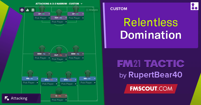 Football Manager 2021 Tactics - Relentless 4-3-3 Domination