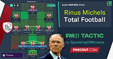 Rinus Michels - Total Football Ajax Inspired 3-4-3 Tactic